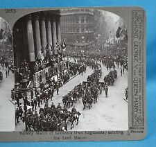WW1 Stereoview Victory March London Regiments Salute Lord Mayor Realistic Travel