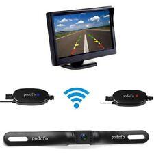 """5"""" LCD Monitor IR Rückfahrkamera Kennzeichen Funk Auto Einparkhilfe Wasserdicht"""