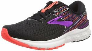 Brooks Running Shoes Trainers Adrenaline GTS 19 Womens Black Purple Support