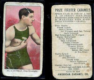 1910 E77 American Caramel Al Kaufman boxing card