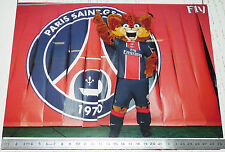 PHOTO 29.5 X 21 PARIS SAINT-GERMAIN PSG MASCOTTE FOOTBALL 2011-2012