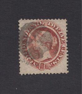 1865/94 NEWFOUNDLAND STAMP 12 CENT QV USED/HINGED NICE CANCEL