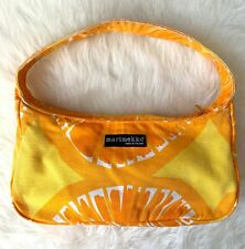 MARIMEKKO Small Handbag Purse Bright Orange Yellow Citrus Summer Made in Finland