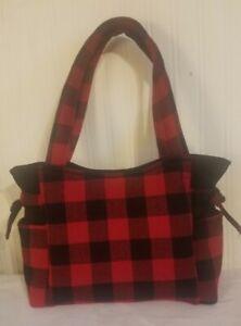 Red & Black Buffalo Plaid Handmade Purse/ Tote/Handbag