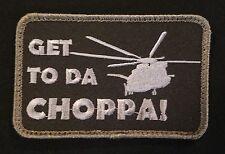 GET TO DA CHOPPA! ARNOLD PREDATOR MILSPEC BLACK OP SWAT VELCRO® BRAND PATCH
