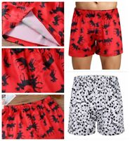 Sexy Men's Satin Silk Underwear Boxers Shorts Pants Christmas Briefs Underpants