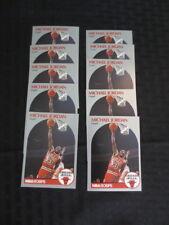 1990-91 Skybox #65 Michael Jordan 10 card Lot Chicago Bulls