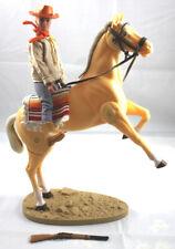 GABRIEL LONE RANGER MARX DAN REID W/HORSE BANJO AND STAND COWBOY FIGURE GREAT