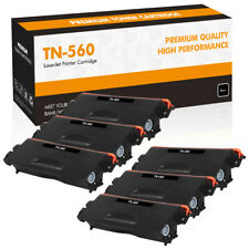 6PK High Yield TN560 Toner Compatible for Brother MFC-8890DW 8680DN DCP-8890DW