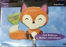 Woodland Fox Welcome Baby Balloon