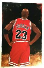 Michael Jordan Chicago Bulls Art Lithograph LE signed by artist Glen Green NBA