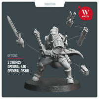 Monster Hunter- Artel W - Space Wolf Marine Primaris Captain Ragnar for D&D 40k