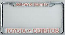 RARE Toyota of Cerritos California JDM Vintage Dealer Metal License Plate Frame