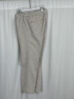 BANANA REPUBLIC Womens Hampton Fit crop pants size 6 beige textured polka dots