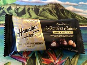 Hawaiian Host Dark Chocolate Covered Macadamia Nuts: 2 Packs