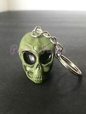 1PC Alien Skull Head Keychain Ring 3D Alien Head Green - Ovni UFO