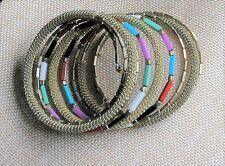Beaded Wrap Bracelet w/Brass Hand Made by Artisans Fair Trade