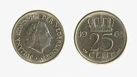 s1546_213) Netherlands   - 25 Cent 1963