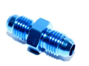 4AN AN-4 Male Thread Straight Aluminum Anodized Fitting Adapter BLUE