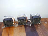 Lot of 3 Fan Heatsink Assembly HP Elitedesk 800 G1 SFF Desktop 4-wire Fan