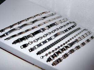 "STAINLESS STEEL Asst Styles Men's & Unisex Bracelets *YOU CHOOSE*~8 -9.25""~NEW"