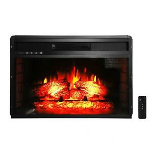 """Hot New Embedded 26"""" Electric Fireplace Insert Heater Log Flame Remote Control"""