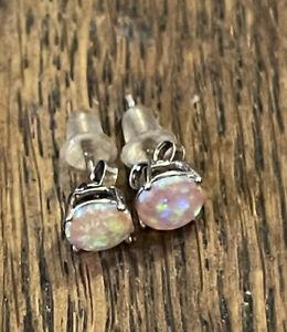Opal 925 Sterling Silver Stud Earrings