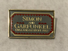 Simon and Garfunkel England and Europe Concert Tour Pin 1982 Vintage