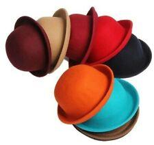 Vintage Lady Girl Cute Children Trendy Wool Felt Bowler Autumn Hats For Kids New