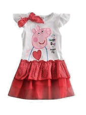 NWT Girls Cartoon Pig Red Tutu Happy Day Birthday Party Dress Size 18/24M
