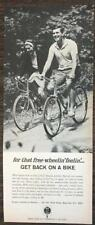 1966 Bicycle Institute of America AD Quintessential Young Mid-60s Couple