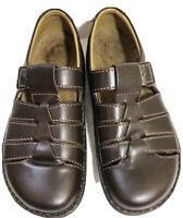 Women's FOOTPRINTS by BIRKENSTOCK Brown Leather Buckle Closure Sandals SIze 41