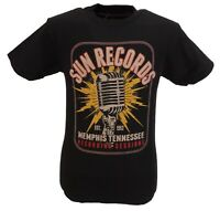 Sun Records Mens Mic Blast Black Cotton T Shirt