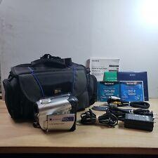 Sony DCR-DVD108 DVD Handycam Camcorder 40x Optical Zoom Carl Zeiss Lens