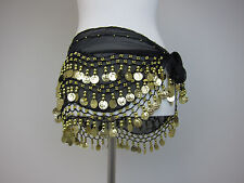 Hip Scarf - Womens One Size - Black/Gold - New