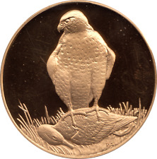 Peter Scotts British Birds Proof Brass Coin Medallion 66.5g Peregrine Falcon