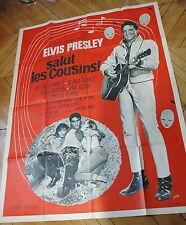 ELVIS PRESLEY GLENDA FARRELL KISSIN' COUSINS 1964 RARE AFFICHE FRENCH POSTER