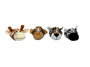 """Multi Pet Rope Head Safari Animals - 4"""" Dog Toy (Free Shipping in USA (Sold Each"""