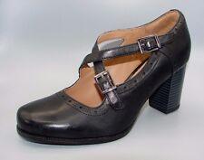 """""""ciera Mar"""" Clark's Para Mujer/Dama De Cuero Negro Zapatos Talla 4.5 D."""