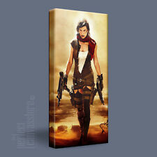 MILLA JOVOVICH RESIDENT EVIL ALICE STYLISH CANVAS ART PRINT UPGRADED to 120x56cm