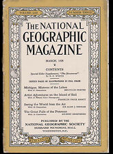 National Geographic Mar 1928, Island of Bali, Great Falls of Potomac, Michigan
