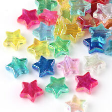 50/100PCS Acrylic Star Loose Spacer Beads For Jewelry Card Making Scrapbooking