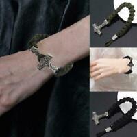 Viking gewebte Armband kreative Punk Persönlichkeit Armband Schmuck B1W2