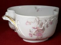HAVILAND Limoges France MARSEILLE FLOWERS Oval Serving Bowl with Handles 8-3/4""