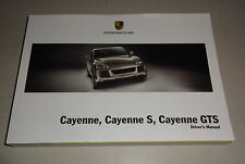 Owner´s Manual / Driver´s Manual Porsche Cayenne inkl. GTS Typ 9PA Stand 03/2008