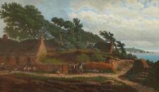 Léon Michel JOUENNE tableau huile paysage breton Bretagne bord de mer marine
