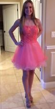 $338 NWT HOT CORAL LA FEMME PROM/PAGEANT/HOMECOMING DRESS #20386 SIZE 6