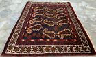 Authentic Hand Knotted Afghan Balouch Pictorial Wool Area Rug 3 x 2 Ft