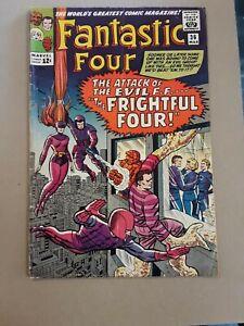 Fantastic Four #36 Silver age 1st Medusa 1st Frightful Four