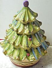 Pfaltzgraff Holiday Spice Christmas tree cookie jar